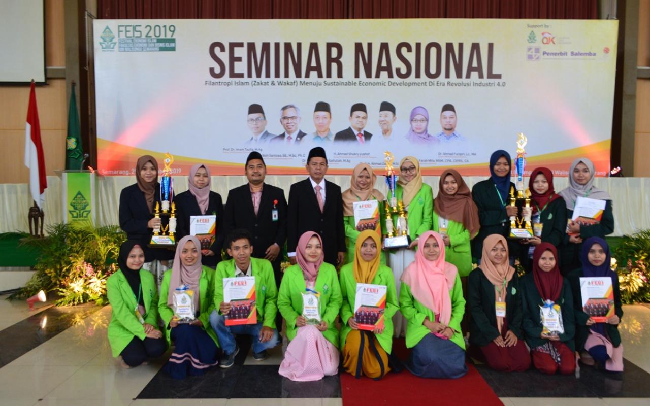 Prodi Perbankan Syariah Juara I National Competition Sharia Banking FEIS 2019 Di UIN Walisongo Semarang.