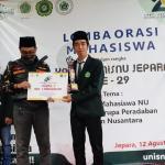 Emil Sabet Juara 1 Lomba Orasi Harlah UNISNU Jepara yang ke 29