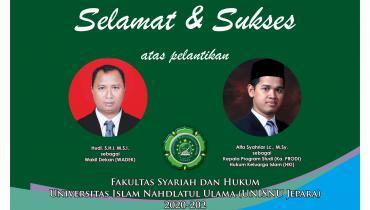 Selamat atas dilantikannya Wadek FSH & Kaprodi HKI 2020-2024