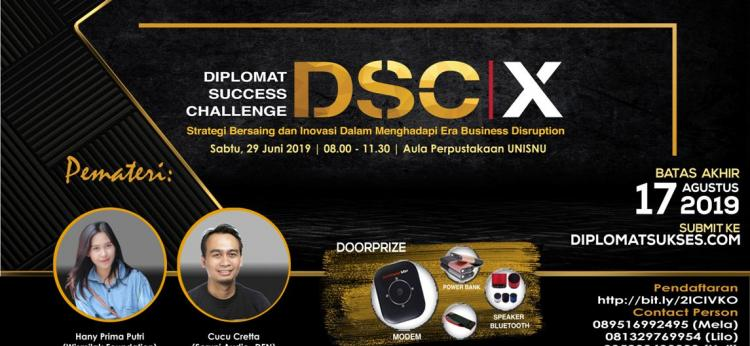 """""""Diplomat Succes Challange X: Strategi Bersaing dan Inovasi Dalam Menghadapi Era Business Disruption"""""""
